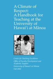 A Climate of Respect: A Handbook for Teaching at the University of ...