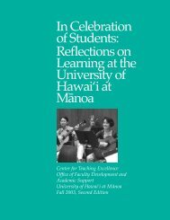 In Celebration of Students: Reflections on Learning at the University ...