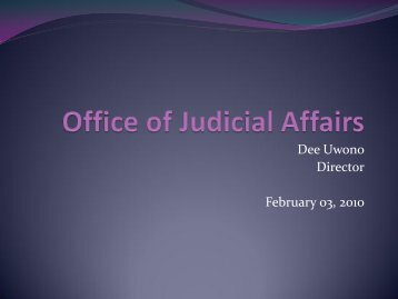Office of Judicial Affairs PPT