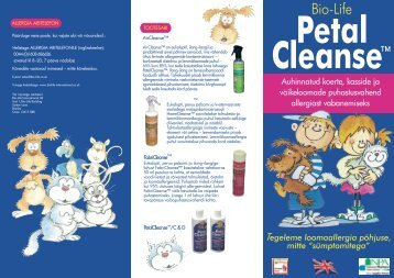 PetalCleanse leaflet - Estonian - Medical24.ee