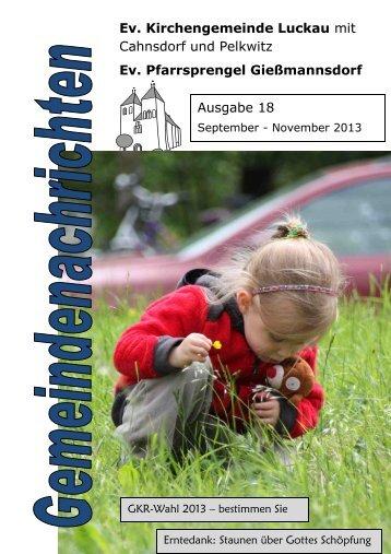 Gemeindebrief September bis November(2,7 MB) - Kirche-Luckau