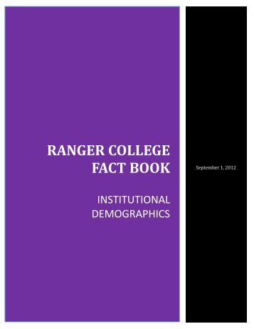 RANGER COLLEGE FACT BOOK