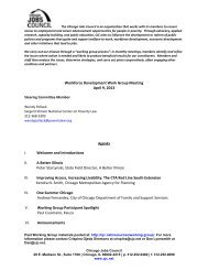 Workforce Development Work Group Meeting April 9, 2013 I ...