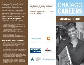Manufacturing - Chicago Jobs Council