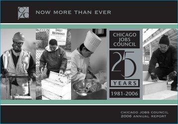 now more than ever - Chicago Jobs Council