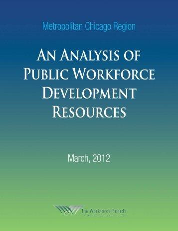 An Analysis of Public Workforce Development Resources