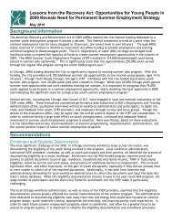 Youth Summer Employment Brief - Chicago Jobs Council