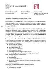 Ministerium für Wissenschaft, Ministerium für ... - Brandenburg.de