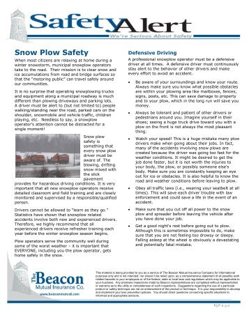 Pickup truck snowplow v plow hiniker company snow plow safety beacon mutual insurance company sciox Images