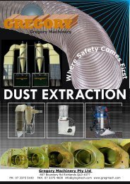 Dust Extraction Catalogue 2009 - Gregory Machinery