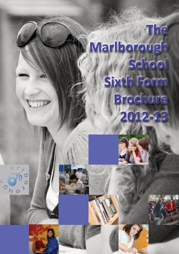 The Marlborough School Sixth Form Brochure 2012-13