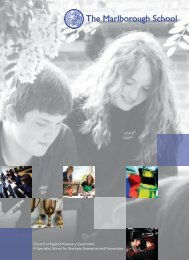 School Prospectus - The Marlborough School