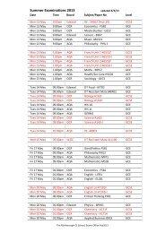 summer exams 2013.pdf - The Marlborough School