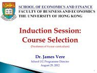 Induction Session: Course Selection for Year 1 Students