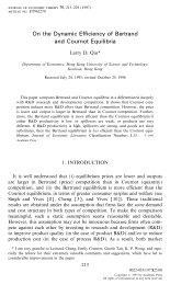 On the Dynamic Efficiency of Bertrand and Cournot Equilibria