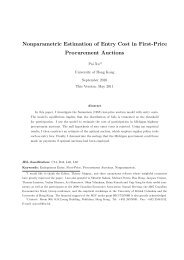 Nonparametric Estimation of Entry Cost in First-Price Procurement ...