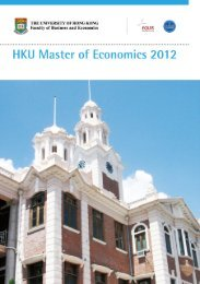 Course Profiles - the School of Economics and Finance - The ...