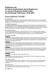 Ergebnisse zur 52. Sprintregatta - Turnverein 1877 eV Essen ...
