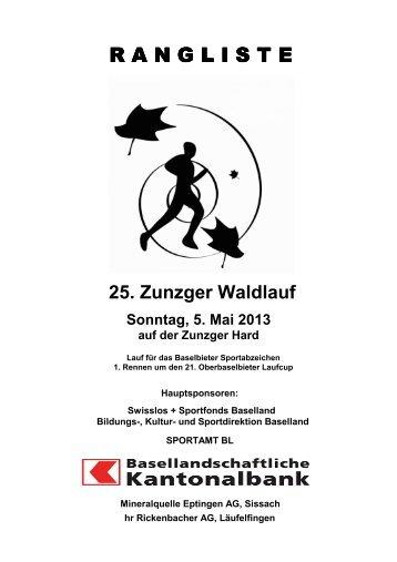 Zunzger Waldlauf - TV Läufelfingen