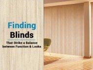 Use wood window blinds to improve the interior aesthetics of your home