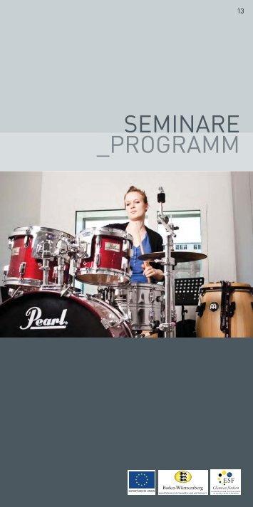 Seminare Programm
