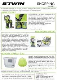 shopping juin 2012 - Espace Presse - BTwin