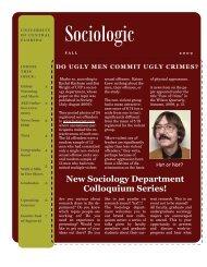 Fall 2009 - UCF Sociology - University of Central Florida