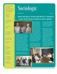 Spring 2010 - UCF Sociology - University of Central Florida