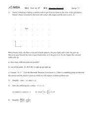 Problem Set 7 - IMSA