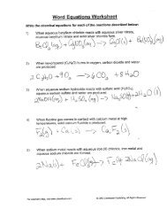 Equation Answer Key - IMSA