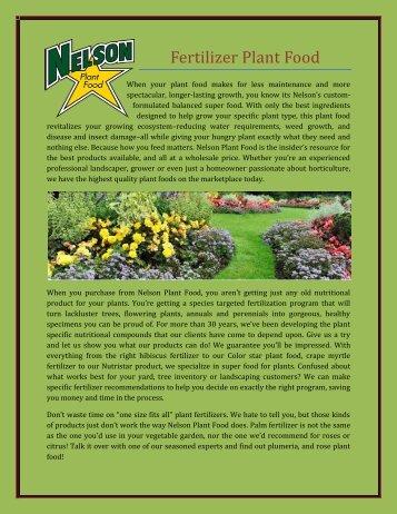Fertilizer Plant Food