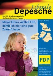Politik geht ALLE an ! FDP - FDP Baden-Württemberg
