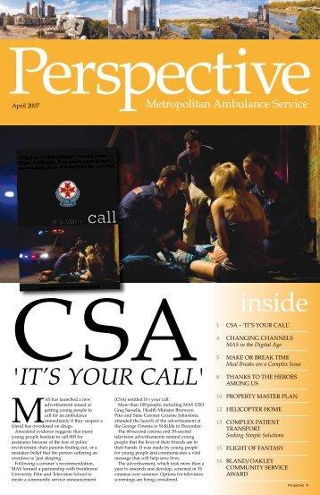 Perspective April 2007 - Ambulance Victoria