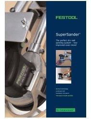 The Perfect Dry Wall sanding System - Festool Power Tools