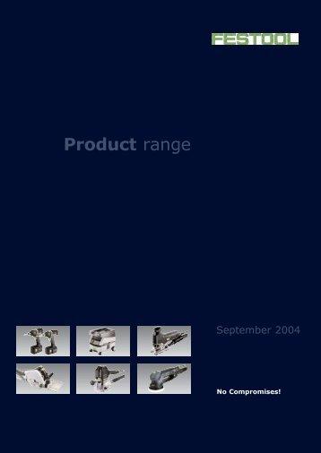 Product range - Festool Power Tools