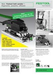 BS 100 Belt Sander - Versatile Products (BOP)