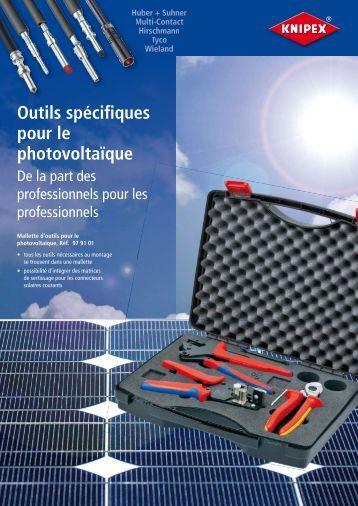 KNIPEX - Outils pour le photovoltaïque - Solairvie