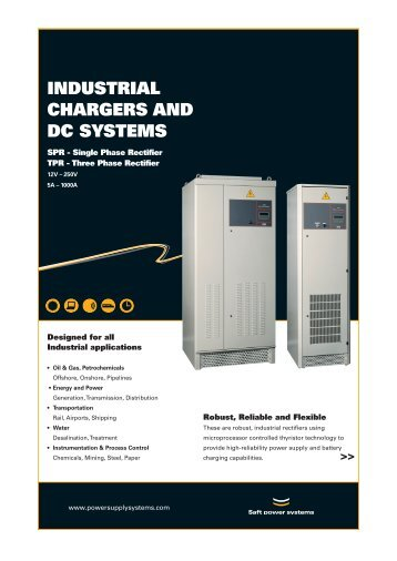 IndustrIal Chargers and dC systems