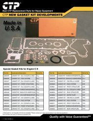 CTP Gasket Kits for More Engines - Costex Tractor Parts