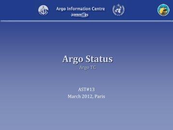 AIC Report/Status of Argo