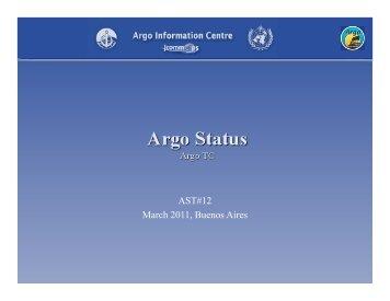 Status of Argo