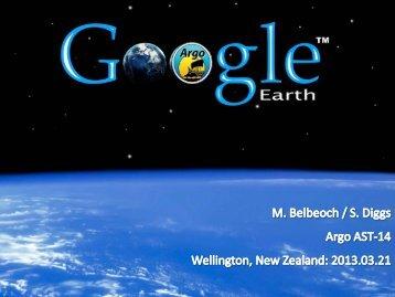 Argo in Google Earth