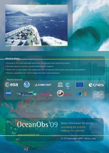 First Circular for OceanObs09 Conference - Argo