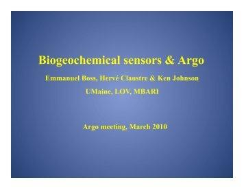 Status of Bio-Argo