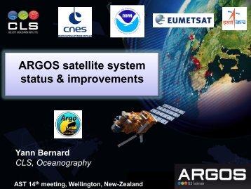 Report from Y. Bernard - Argo