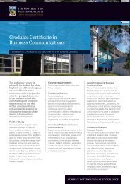 Graduate Certificate in Business Communications - Business School ...
