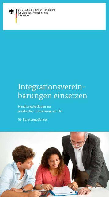 Integrationsvereinbarungen einsetzen ... - Bundesregierung