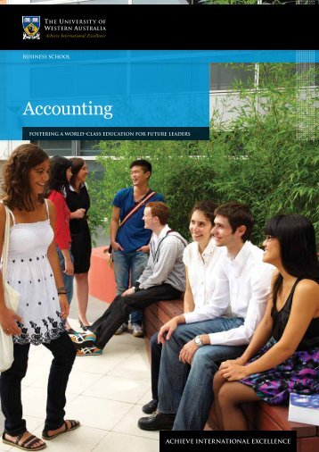 Accounting - Business School - The University of Western Australia
