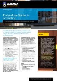 Postgraduate Studies in Accounting - Business School - The ...