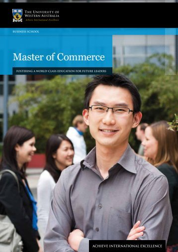Master of Commerce - Business School - The University of Western ...